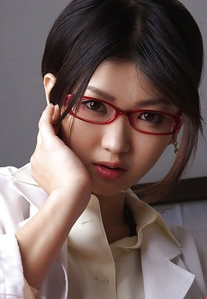 Asian in Glasses Porn Pictures